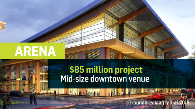 Event Center 105 million dollar project. It is for a mid-size downtown venue.