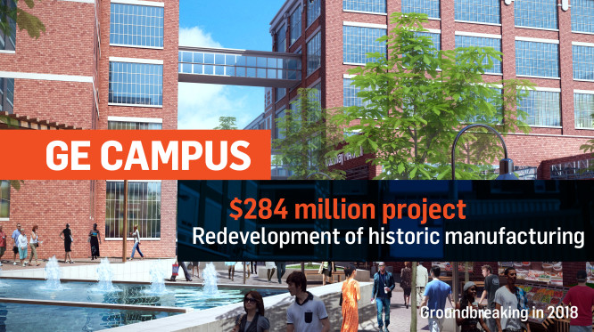 G. E. Campus is a 300 million dollar project. It is a redevelopment project for the historic campus.