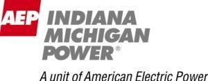 A. E. P. Indiana Michigan Power: A unit of American Electric Power. Logo.