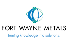 "Fort Wayne Metals. Logo. Their slogan is ""turning knowledge into solutions."""