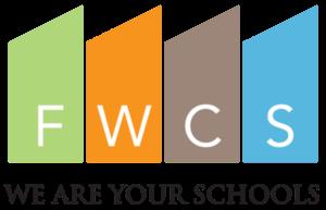 "Fort Wayne Community Schools. Logo. Their slogan is ""we are your schools."""