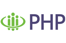 """P. H. P. Logo. Their slogan is """"the insurance your health deserves."""""""