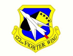 One hundred twenty-second Fighter Wing. Logo.
