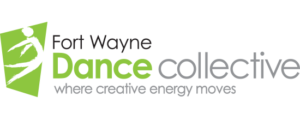"Fort Wayne Dance Collective. Logo. Their slogan is ""where creative energy moves."""