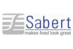 """Sabert. Logo. Their slogan is """"makes food look great."""""""