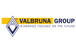 "Valbruna Group. Logo. Their slogan is ""synergies focused on the future."""