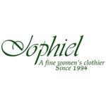 "Jophiel. Logo. Their slogan is ""a fine women's clothier since 1994."""