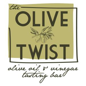 The Olive Twist: Olive Oil and Vinegar Tasting Bar. Logo.