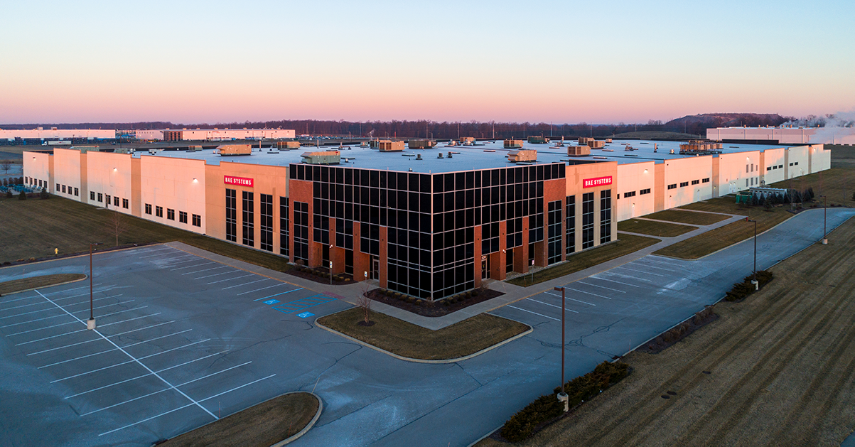 exterior photo of B-A-E Systems facility in Fort Wayne