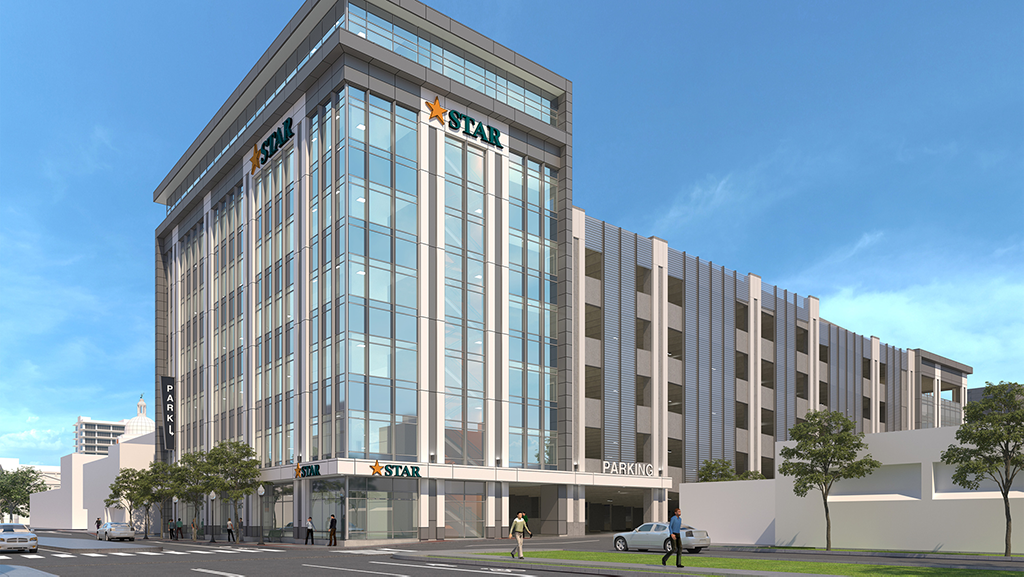 rendering of new headquarters of star bank
