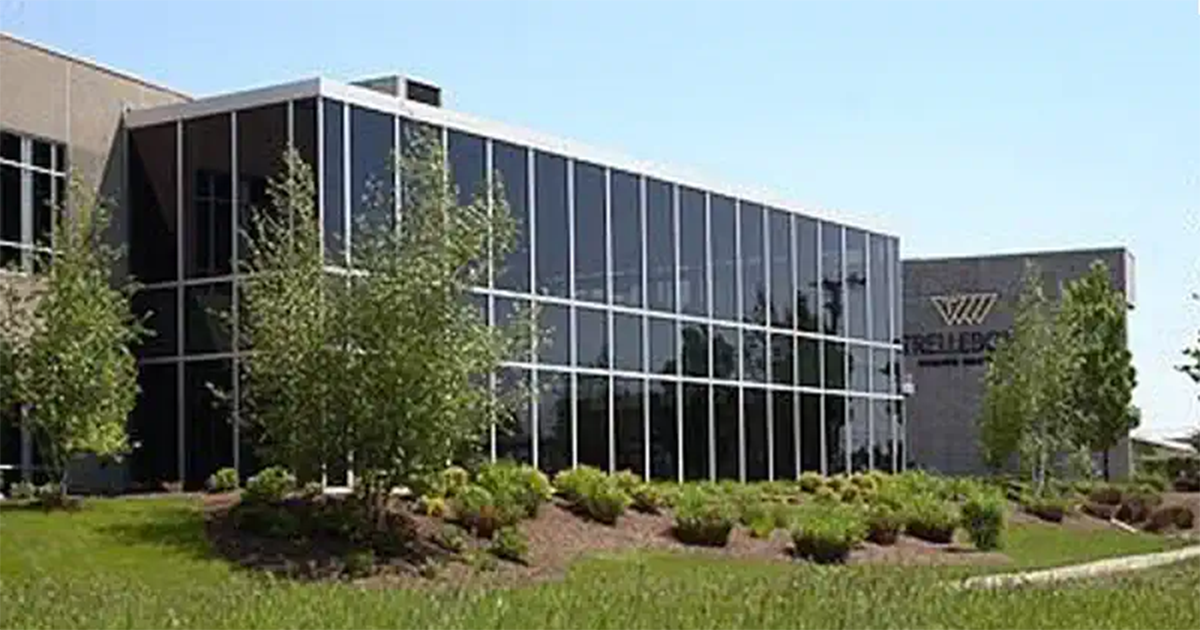 exterior photo of trelleborg's fort wayne manufacturing facility