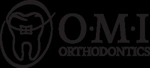 O-M-I Orthodontics. Logo.